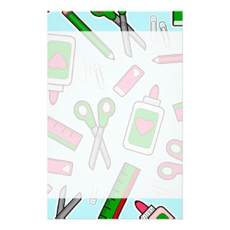 Cute Teacher Love School Print Stationery