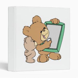 cute teacher teddy bear with chalkboard 3 ring binder