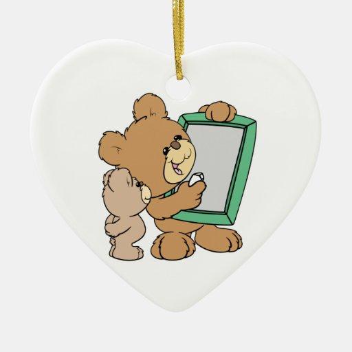 cute teacher teddy bear with chalkboard christmas ornament