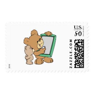 cute teacher teddy bear with chalkboard postage