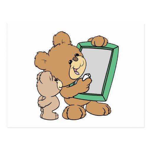 cute teacher teddy bear with chalkboard postcard