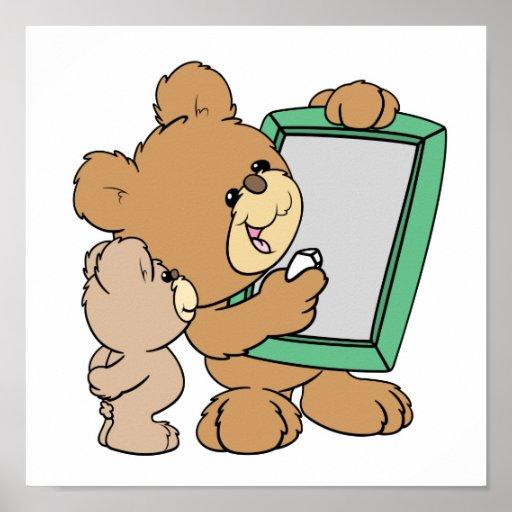cute teacher teddy bear with chalkboard poster