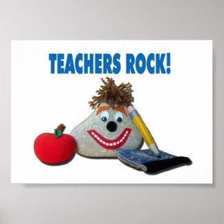 """Cute """"Teachers Rock!"""" Poster"""