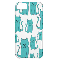 Cute Teal Cats. iPhone 5C Cover