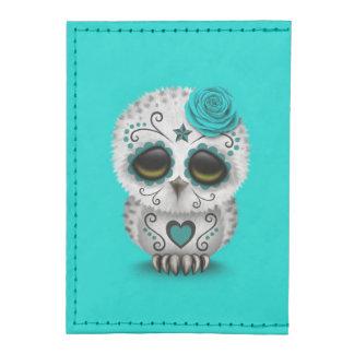 Cute Teal Day of the Dead Sugar Skull Owl Blue Tyvek® Card Case Wallet