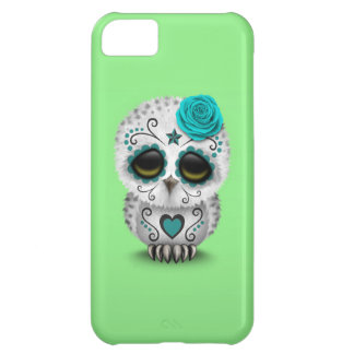 Cute Teal Day of the Dead Sugar Skull Owl Green iPhone 5C Case