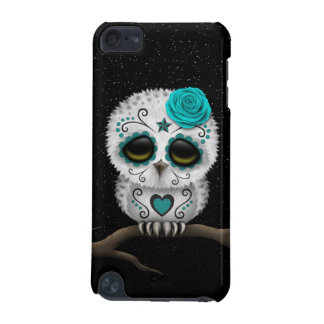 Cute Teal Day of the Dead Sugar Skull Owl Stars iPod Touch (5th Generation) Covers
