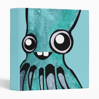 Cute Teal Octopus Binder