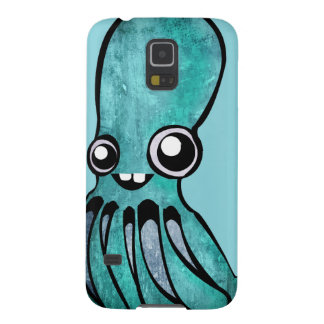 Cute Teal Octopus Case For Galaxy S5