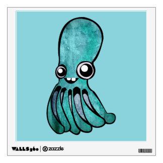 Cute Teal Octopus Wall Sticker