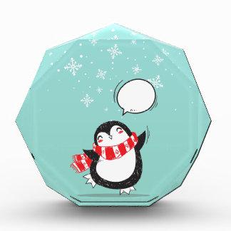 Cute Teal Penguin Holiday Xmas Christmas Gift