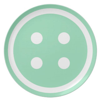 Cute Teal Sewing Button Plate