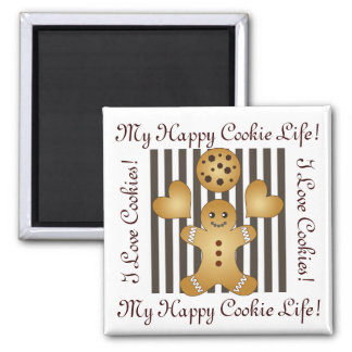 Cute Team Cookie Cartoon Stripe Personalized Kids Magnet