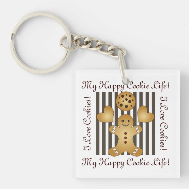 Cute Team Cookie Cartoon Stripes Personalized Kids