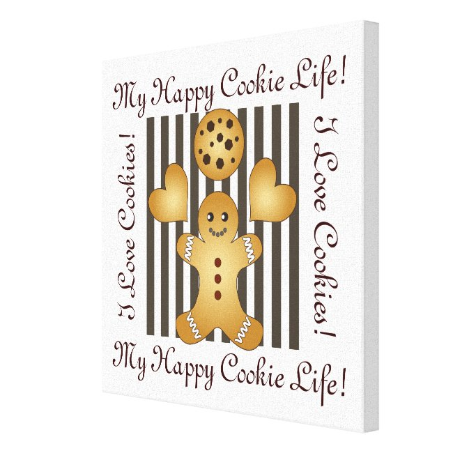 Cute Team Cookie Stripes Personalized Kids Room