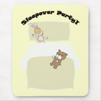 Cute Teddies Sleepover Party! Mouse Pad