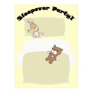 Cute Teddies Sleepover Party! Postcard