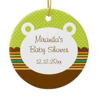 Cute Teddy Bear Baby Shower Ornament ornament
