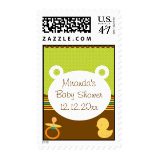 Cute Teddy Bear Baby Shower Save the Date Stamp