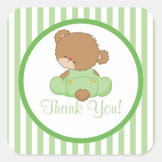 Cute Teddy Bear Baby Shower Square Sticker! Square Sticker