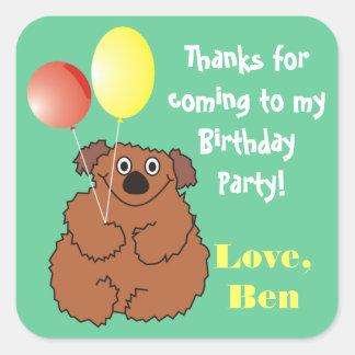 Cute Teddy Bear Birthday Party Stickers