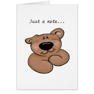 Cute Teddy Bear Blank Note Card