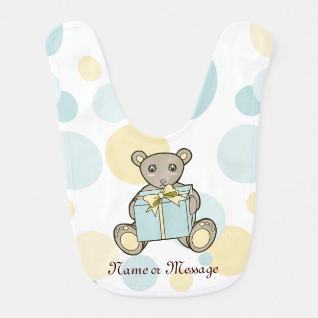 Cute Teddy Bear Boy or Girl Personalized Pastel