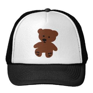 cute teddy bear brown trucker hat