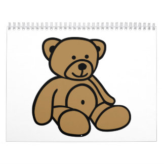 Cute teddy bear calendar