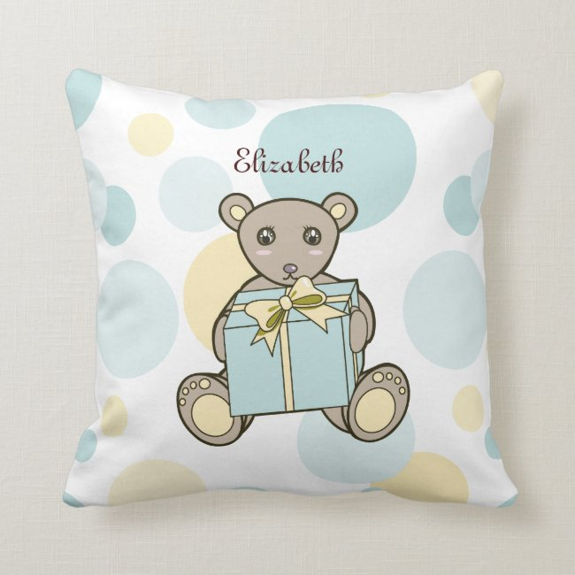 Cute Teddy Bear Cartoon Pastel