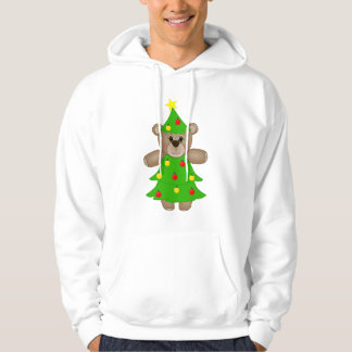 Cute Teddy Bear Dressed as a Christmas Tree Pullover