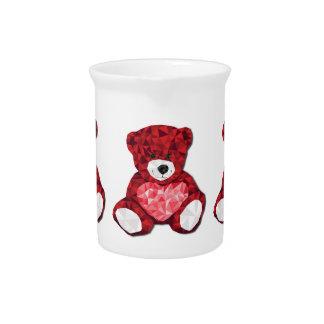 Cute teddy bear drink pitcher