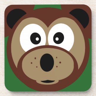 Cute Teddy Bear Face  Kids  Coasters