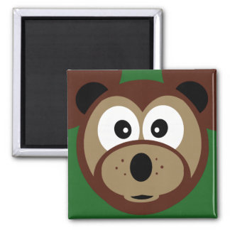Cute Teddy Bear Face  Kids  Kitchen Magnet