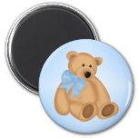 Cute Teddy Bear, For Baby Boy 2 Inch Round Magnet