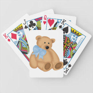 Cute Teddy Bear, For Baby Boy Bicycle Playing Cards