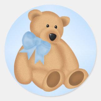 Cute Teddy Bear, For Baby Boy Classic Round Sticker
