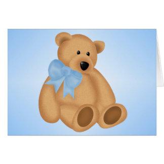 Cute Teddy Bear, For Baby Boy Greeting Card