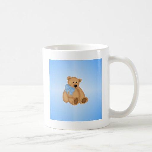 Cute Teddy Bear, For Baby Boy Classic White Coffee Mug