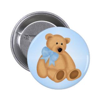 Cute Teddy Bear, For Baby Boy Pinback Button