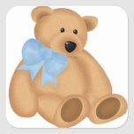 Cute Teddy Bear, For Baby Boy Square Sticker