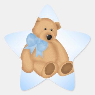Cute Teddy Bear, For Baby Boy Star Sticker