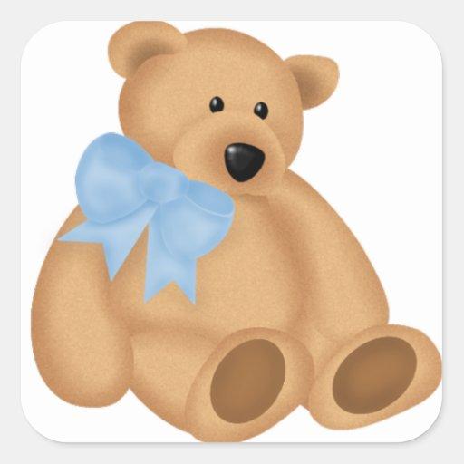 Cute Teddy Bear, For Baby Boy Stickers