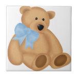 Cute Teddy Bear, For Baby Boy Tiles
