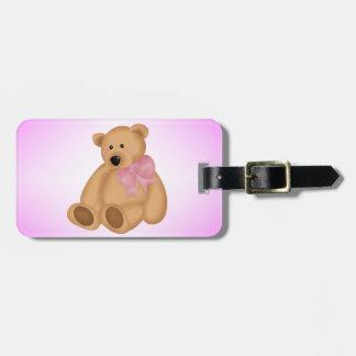 Cute Teddy Bear, For Baby Girl Bag Tag