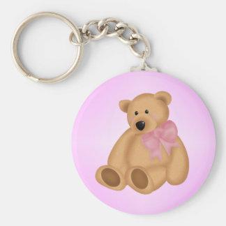 Cute Teddy Bear, For Baby Girl Basic Round Button Keychain