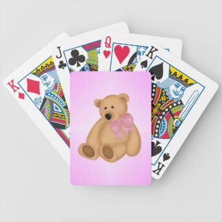 Cute Teddy Bear, For Baby Girl Bicycle Playing Cards