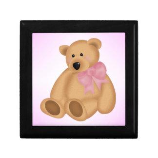 Cute Teddy Bear, For Baby Girl Keepsake Boxes