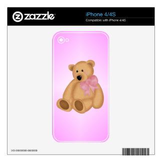 Cute Teddy Bear, For Baby Girl iPhone 4 Skin