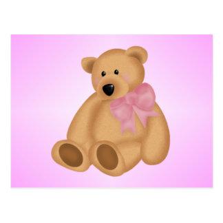 Cute Teddy Bear, For Baby Girl Postcard